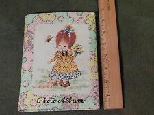 ('60s) Retro *Photo Album* Colorful_Little Girl w/ Dog_Flowers_Butterfly Ltd.