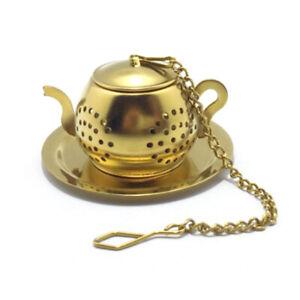 Stainless Steel Teapot Shape Tea Infuser Spice Flower Tea Strainer Herbal FS FH
