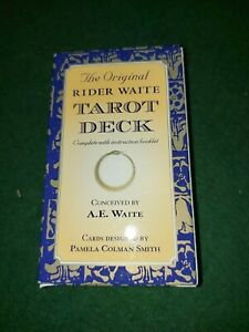 Original Rider Waite Tarot Deck with instructional Booklet Included