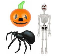 Halloween Inflatable Set Spider Skeleton & Pumpkin Spooky Party Decorations