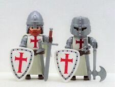 2 x KREUZRITTER TEMPELRITTER A PLAYMOBIL zu Crusader Templer vs Saladin Rock RAR