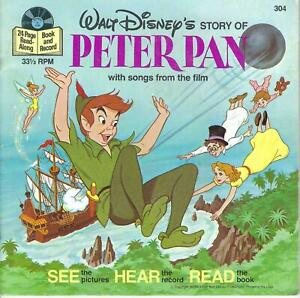 Disney  Record with story book -   Peter Pan  1977
