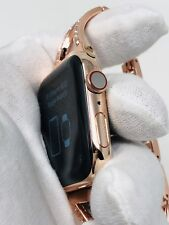 24K Rose Gold Plated 44MM Apple Watch SERIES 4 With Rose Gold Diamond Rhinestone