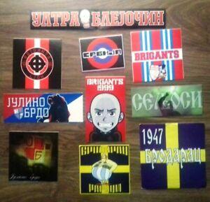 10 x Serbian  Football Ultras Stickers
