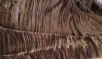 "CRUSHED VELVET Chocolate  52"" wide, sold by yard, No Strech"