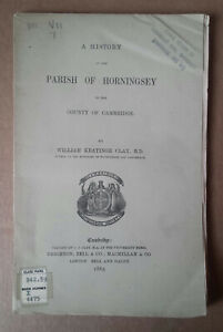 Antique Book 1865 `History, The Parish Of Horningsey` (Cambridgeshire) C.J. Clay