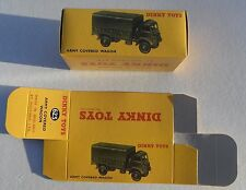 High Quality Reproduction Dinky Military Boxes - 623 Army Covered Wagon