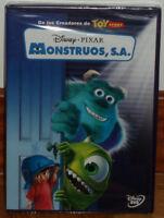 MONSTRUOS,S.A. DISNEY PIXAR DVD NUEVO PRECINTADO ANIMACION (SIN ABRIR) R2