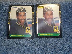 1987 Donruss #361 & Leaf #219 Barry Bonds RC Lot Of 2