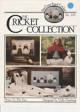 "Fiche point de croix Cricket Collection  "" DOWN TO THE SEA """