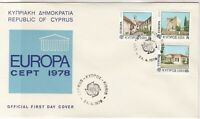 Cyprus 1978 Europa CEPT Picture Slogan Double Cancels FDC Stamps Cover Ref 27640