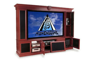 """7 Channel Surround Sound and Cinema Cabinet with 106"""" Projection Screen Package"""