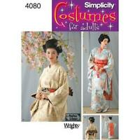 Simplicity 4080 Sewing PATTERN Traditional style Kimono Dress Costume W14-20 RR