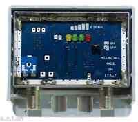 60.11311ND Amplificatore Scher. con Misuratore di segnale, 1 ing log +30 dB reg.