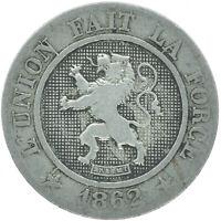 COIN / BELGIUM / 10 CENTIMES 1862  #WT16616