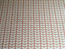 ~ 103cm x 14cm L Orla Kiely Tiny Stem Blush Pink Lightweight Cotton Fabric New