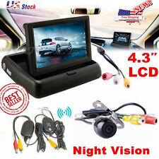 Wireless Car Reverse Rear View Backup Night Vision Camera Kit  TFT LCD Monitor