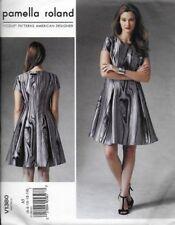 Vogue Sewing Pattern V1380 pamella roland DRESS sz 6-14 Semi-Fitted & Flared