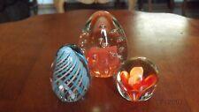 3 Art Glass Paperweights