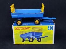 Matchbox Lesney MB40-C1 - Hay Trailer in Type G Box