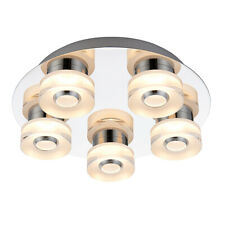 Saxby 68913 RITA Round Chrome Plate 5 LED/RGB Dimmable Semi Flush Ceiling Light