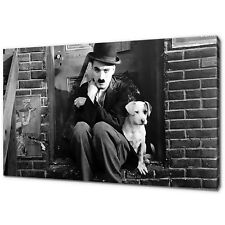 CHARLIE CHAPLIN A DOG'S LIFE CANVAS PICTURE PRINT WALL ART DECOR FREE DELIVERY