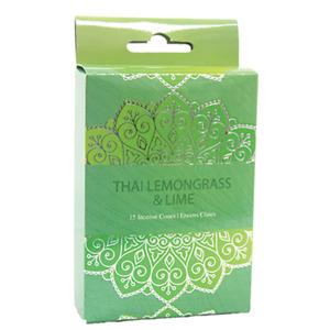 Thai Lemongrass & Lime Incense Cones Home Fragrances Aroma Scent Relaxing Holder