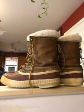 Sorel Caribou Women's Vintage Winter Snow Boots 9 Tan Brown