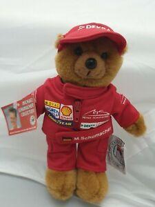 Michael Schumacher Collection Bär mit Overall Plüsch-Figur mit Etikett - Heunec
