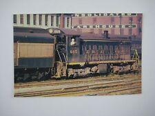Lima 1200 HP Switcher Erie #665 for Passenger Cars Retired 1960's Train Postcard