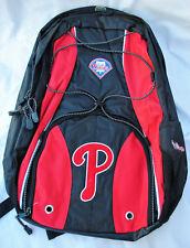 More details for philadelphia phillies backpack, red & black