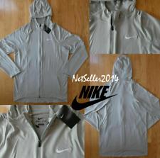 Sz Xl-Tall 🆕� Nike Men's Dri Fit Blank Basketball Full Zip Gray Jacket Hoodie
