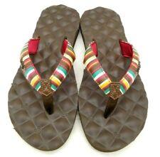 Reef Multi-Color Stripe Casual Slide Flip Flop Sandals Shoes Women's 7