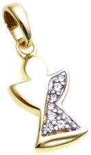 Pendant Angel Gold 333 with Zirconia Yellow Unisex Ladies Quality Guardian