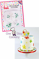 FMM 2 SPLAT Cutters Sugarcraft Muddy Puddle Paint Splodge Cake Decorating