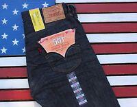 Levi's 501 Original Fit Straight Leg Button Fly Denim Blue Jeans Vtg [501-02299]