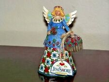 New W/Tag Retired 2002 Heartwood Creek Jim Shore Angel W/Basket Of Roses #105169