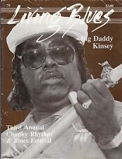 LIVING BLUES MAGAZINE NUMBER 75 1987 BIG DADDY KINSEY KATIE WEBSTER INTERVIEW