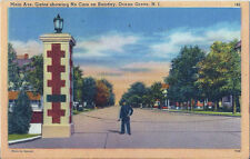 Postcard New Jersey Ocean Grove Main Ave Gates Showing No Cars on Sunday 1945