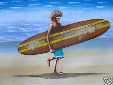 Surfers Paradise Art Painting  canvas poster Beach Print   Abstract Australia