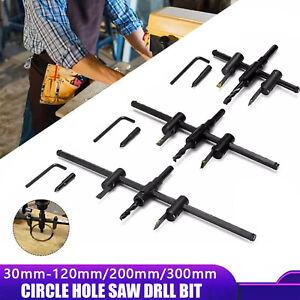 Adjustable Circle Hole Cutter Wood Drywall Drill Bit Saw Round Cutting 30-300mm