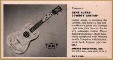 1955 Gene Autry Cowboy Guitar Emenee Industries Child's Toy Print Ad