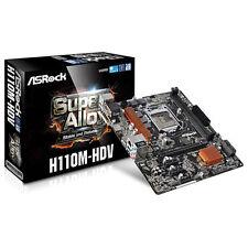 Scheda Madre 1151 AsRock H110M-HDV m-Atx 2xDDR4 HDMI USB3.0 SATA3