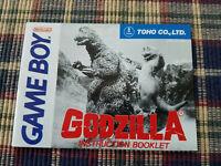 Godzilla - Authentic - Nintendo Game Boy - GB - Manual Only!