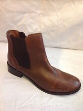 New Look Brown Ankle Leather Boots Size 6