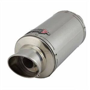 Lextek YP4 Stainless Steel Stubby Exhaust Silencer 51mm Slip On End Can