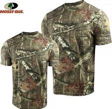Mossy Oak Camo Hunting Shirt Short Sleeve w/Pocket - LARGE