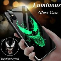 Luminous Glass Phone Case For iPhone 11 Pro Max  XSmax XR XS X 8 7 6 s Plus Capt
