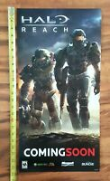 HALO REACH Video Game Store Display COMING SOON Sign 2010 XBOX 360 BUNGIE Promo