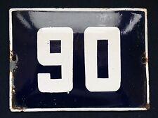 VINTAGE ENAMEL PORCELAIN TIN SIGN PLATE 1pcs address number sign 90 ! (No.Я9)